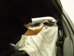10. Getting into the back seat of a R35 GTR is quite difficult when trying to install window tint, so much care and patience is needed for a great result.