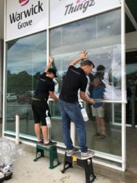 Warwick Grove Shopping Centre Anti-Graffiti Film Install